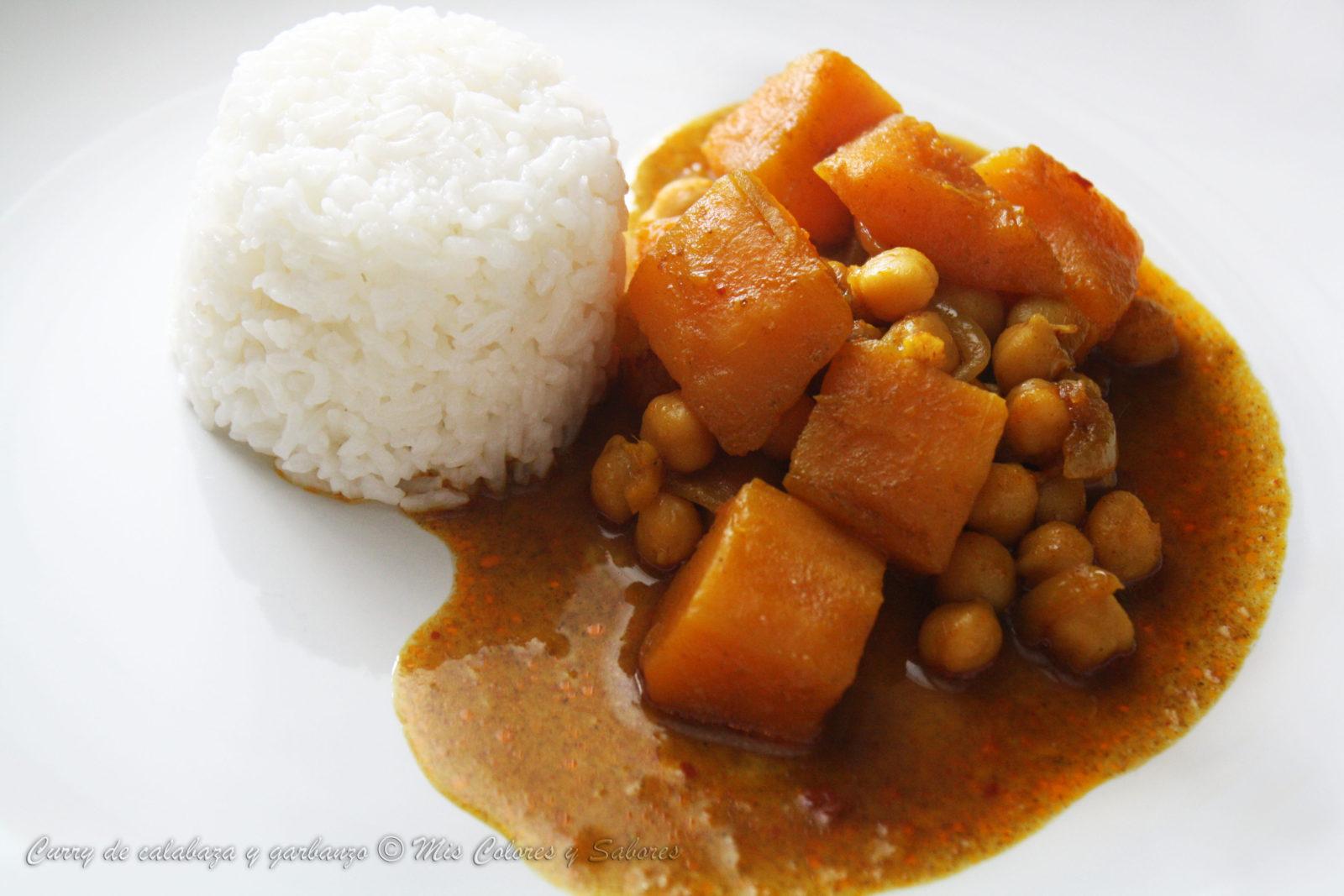 Curry de Calabaza y Garbanzo