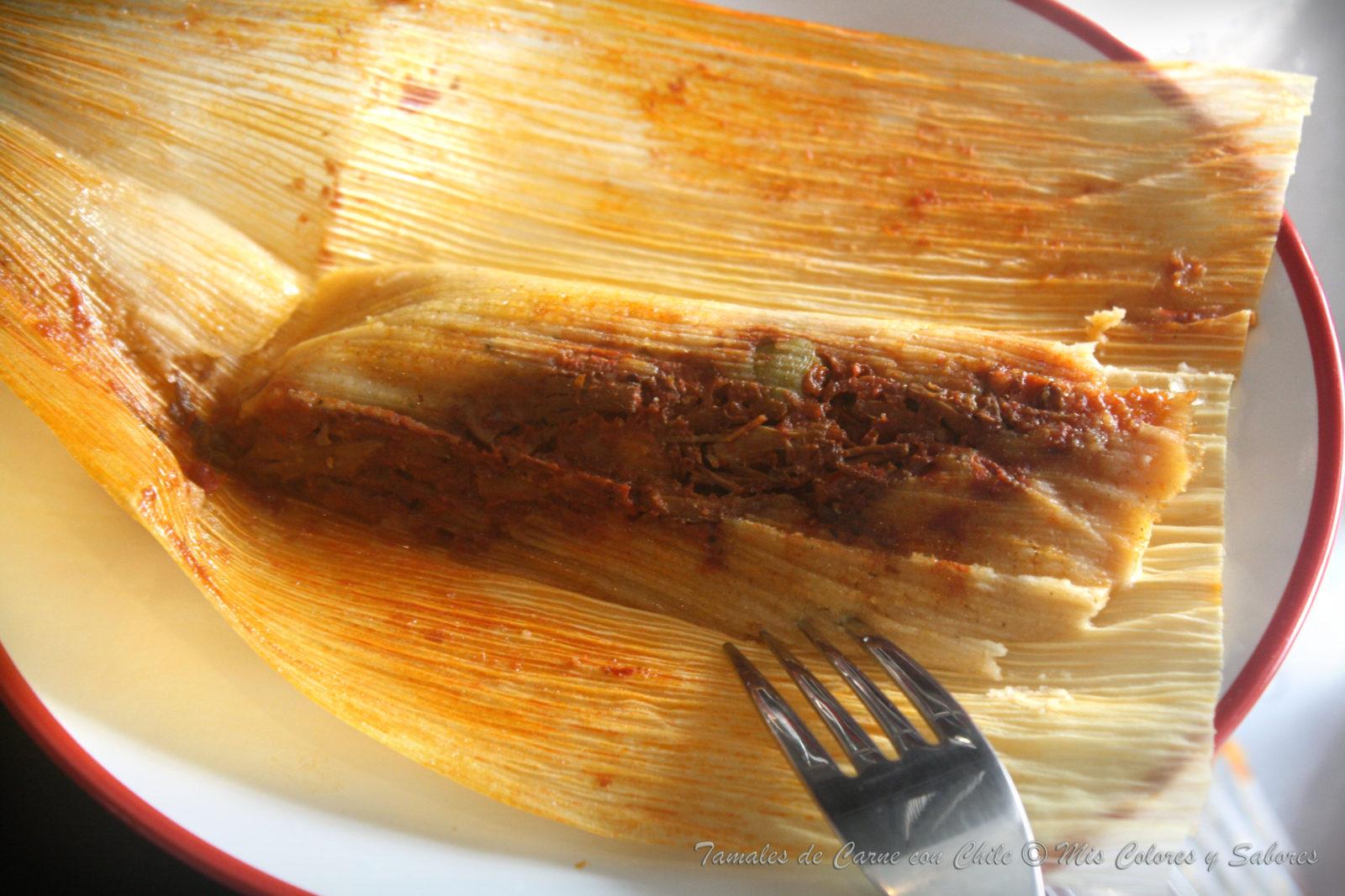 Tamales de Carne con Chile