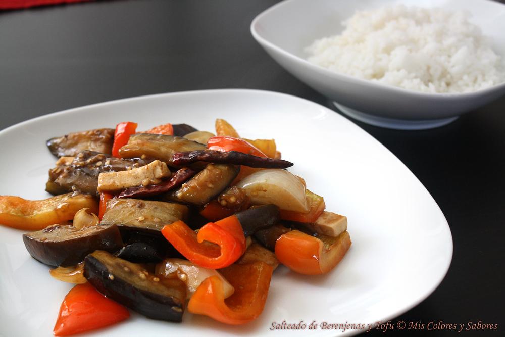 Salteado de Berenjenas y Tofu