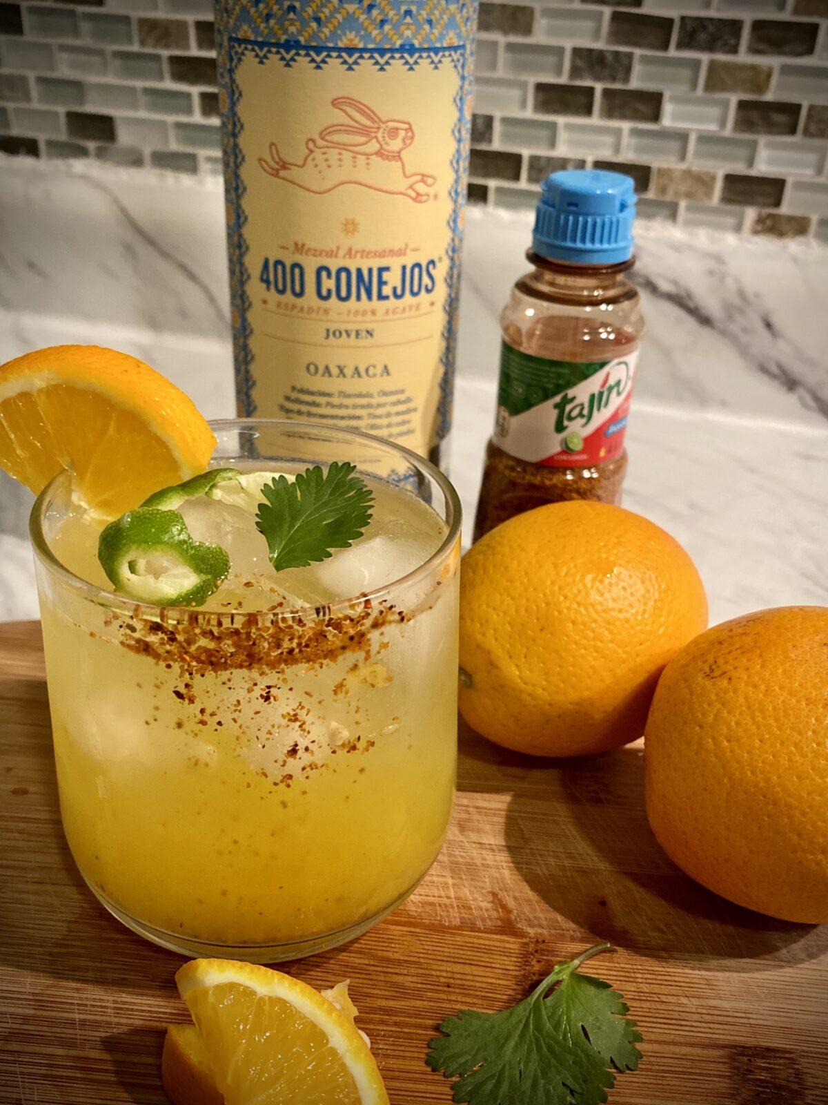 Cocktail de cítricos con mezcal